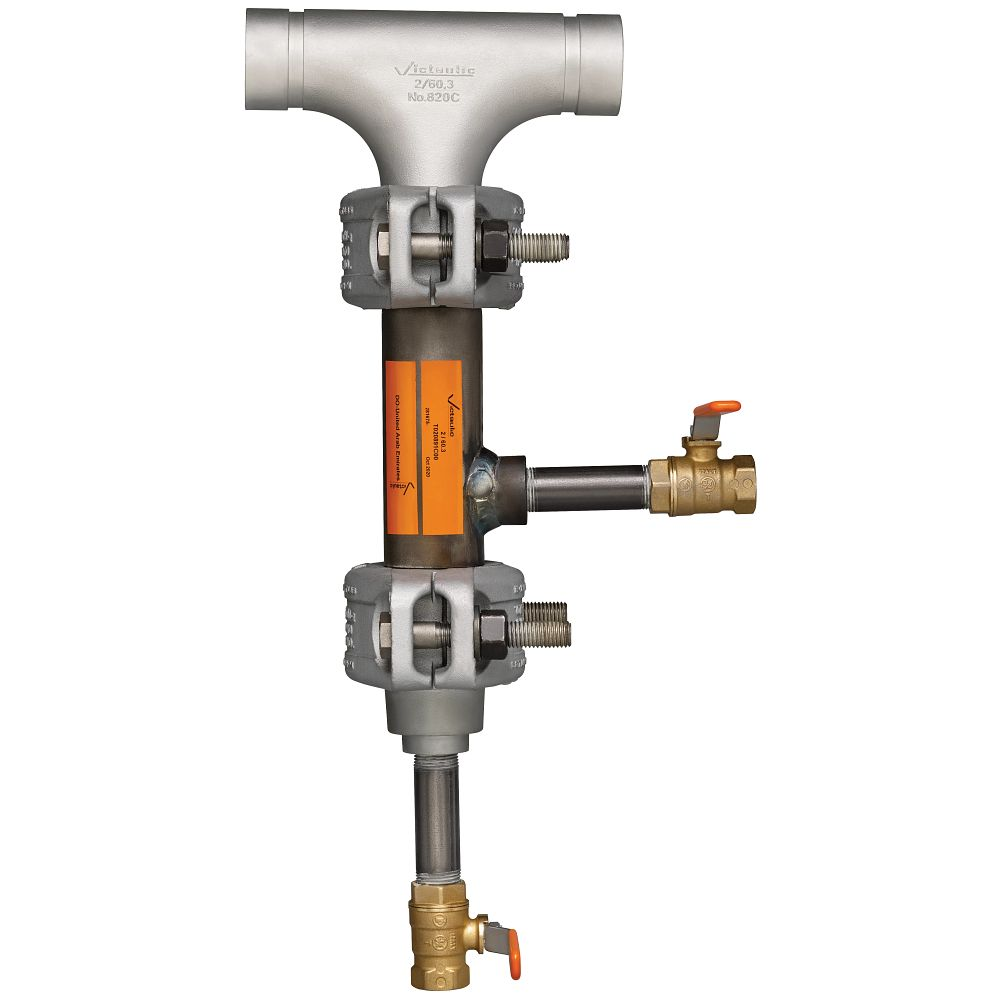 Conexiones de soporte de drenaje para vapor y condensado